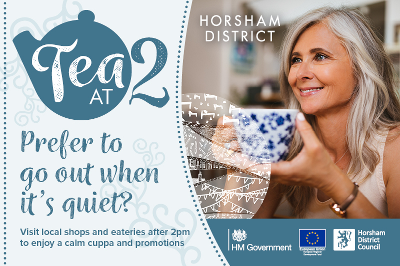 Prefer to go out when it's quiet? Visit local shops after 2pm and enjoy a cuppa and promotions