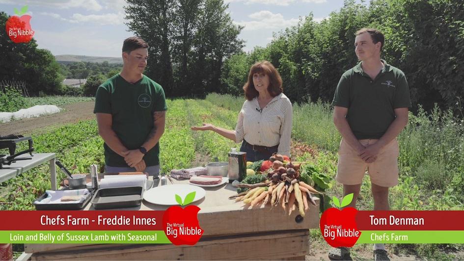 Freedie Innes cooks seasonal lamb in an outdoor kitchen