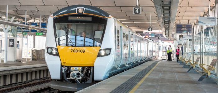 Thameslink train at a platform