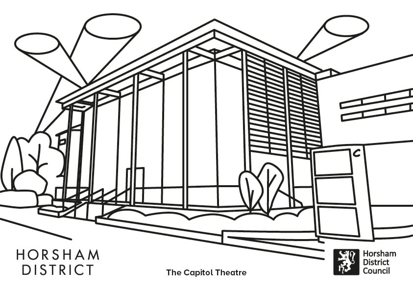 The Capitol colouring sheet