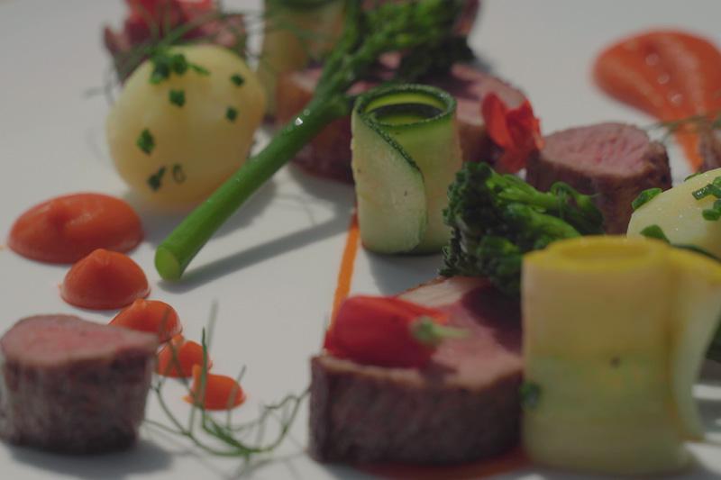 Lamb with seasonal vegetables