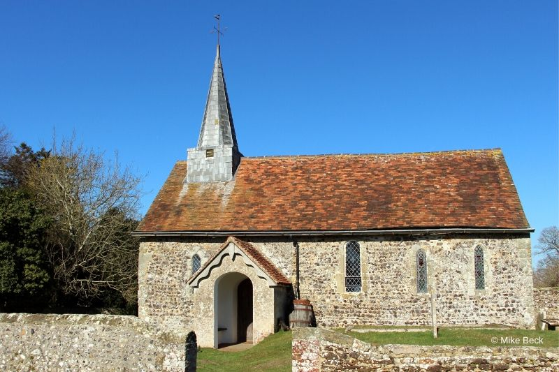 Greatham church on a sunny day