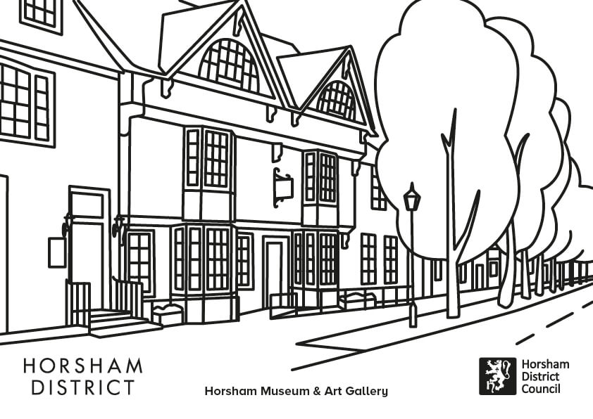 Horsham Museum colouring sheet