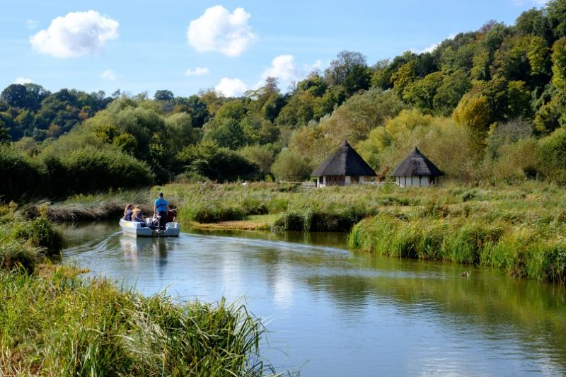 A boat trip on the lake at Arundel Wetland Centre