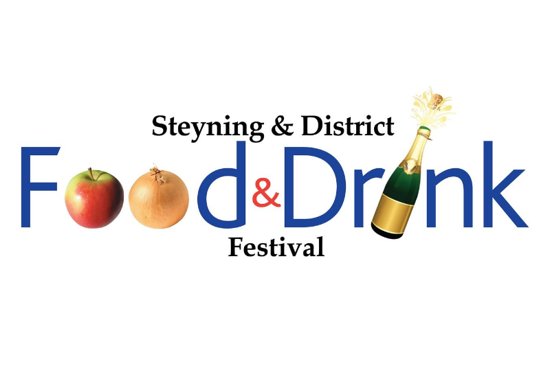 A picture of text saying Steyning & District Food & Drink Festival